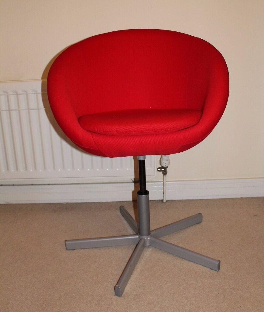 Red Ikea Skruvsta Swivel Chair