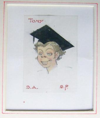 CARTOONS  GRANDSON TONY AS A NEW GRADUATE  FREDERICK MAY W/COL c1968