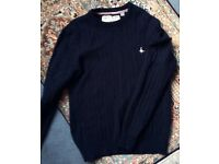 Jack Wills Navy Wool Jumper, Size Medium
