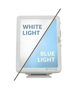 PureGuardian 10,000 LUX Full Spectrum Energy Light with Customizable Blue or White Light Therapy Intensity, Timer, Pure