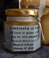 Unpasteurized Pure Honey Wedding Favors