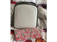 Diaper bag backpack with changing mat