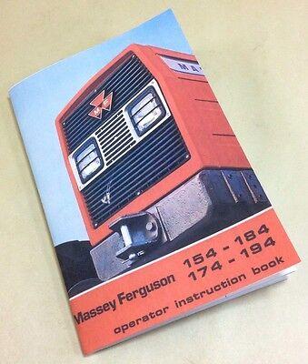 Massey Ferguson 154 174 184 194 Tractors Operators Owners Manual Instructions