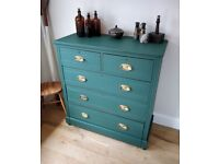 Large Edwardian chest of drawers, antique chest of drawers, dresser, bedroom furniture,