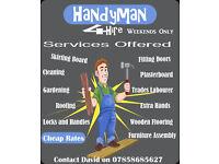 carpenter/handyman Available weekends