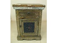 Beautiful full glass mosaic antique bedside table unit