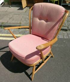 Ercol blonde model 334 armchair