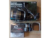 Shimano Super Baitrunner 6000xtea. Unused. Spare spool. diawa braid.