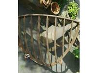 Large wrought iron hay rack