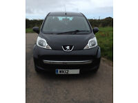 Peugeot 107 1.0 12V Urban 5 door in black, 2012, 48000 miles, £20 road tax, 1 owner from new