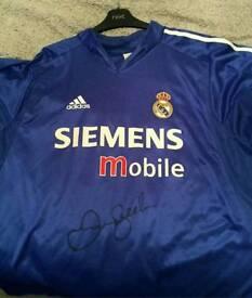 David Beckham signed Real Madrid shirt