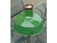 Vintage Industrial Enamel Light shade. GEC. Coolicon style
