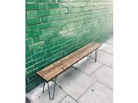 Industrial Hair Pin Reclaimed Bench
