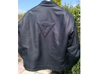 Dainese Black Leather Jacket. Size EU 54 UK 44. Bargain at £100.00