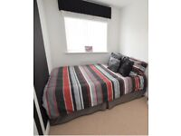 DOUBLE BED AND BEDDING