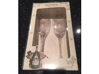 Mr & Mrs champagne glasses