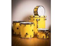 Gretsch American Custom drums in original Tony Willams yellow
