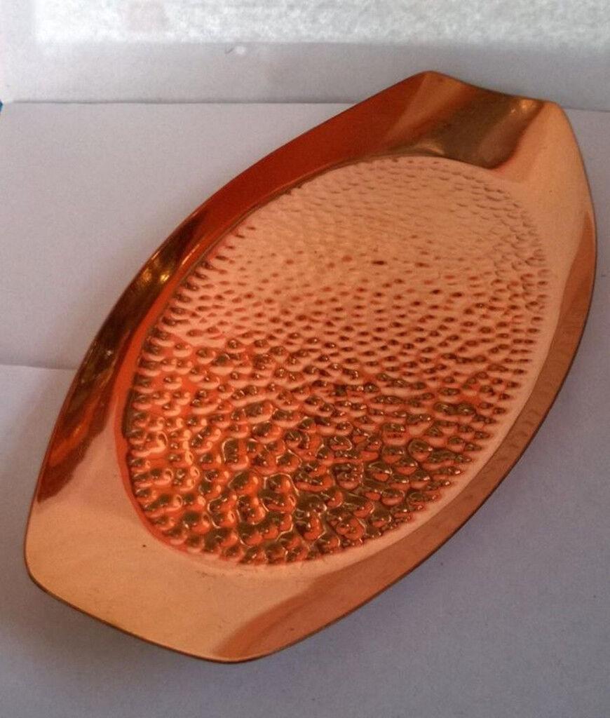 vintage hammered copper serving tray