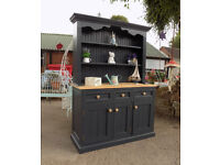 Large painted pine welsh dresser