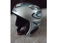 Silver childs Ski helmet