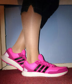 Adidas Bounce Trainers, Bright Pink. UK Size 9/EU 43. As new.