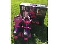 SFR Storm Adjustable Roller Skates - Black/Pink