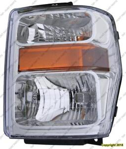 Head Lamp Passenger Side Except Harley Davidson High Quality Ford F250 F350 F450 F550 2008-2010