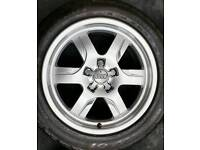 """17"""" Genuine Audi deep dish alloys, perfect condition with matching premium tyres"""