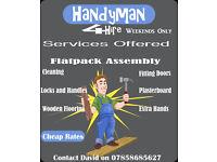 carpenter/handyman/gardening Available