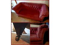 Two Victorian/ Edwardian Chesterfields For Sale Project Upholstering Theatrical