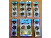 Various Dawn Bibby Embellishment Items for Card Making