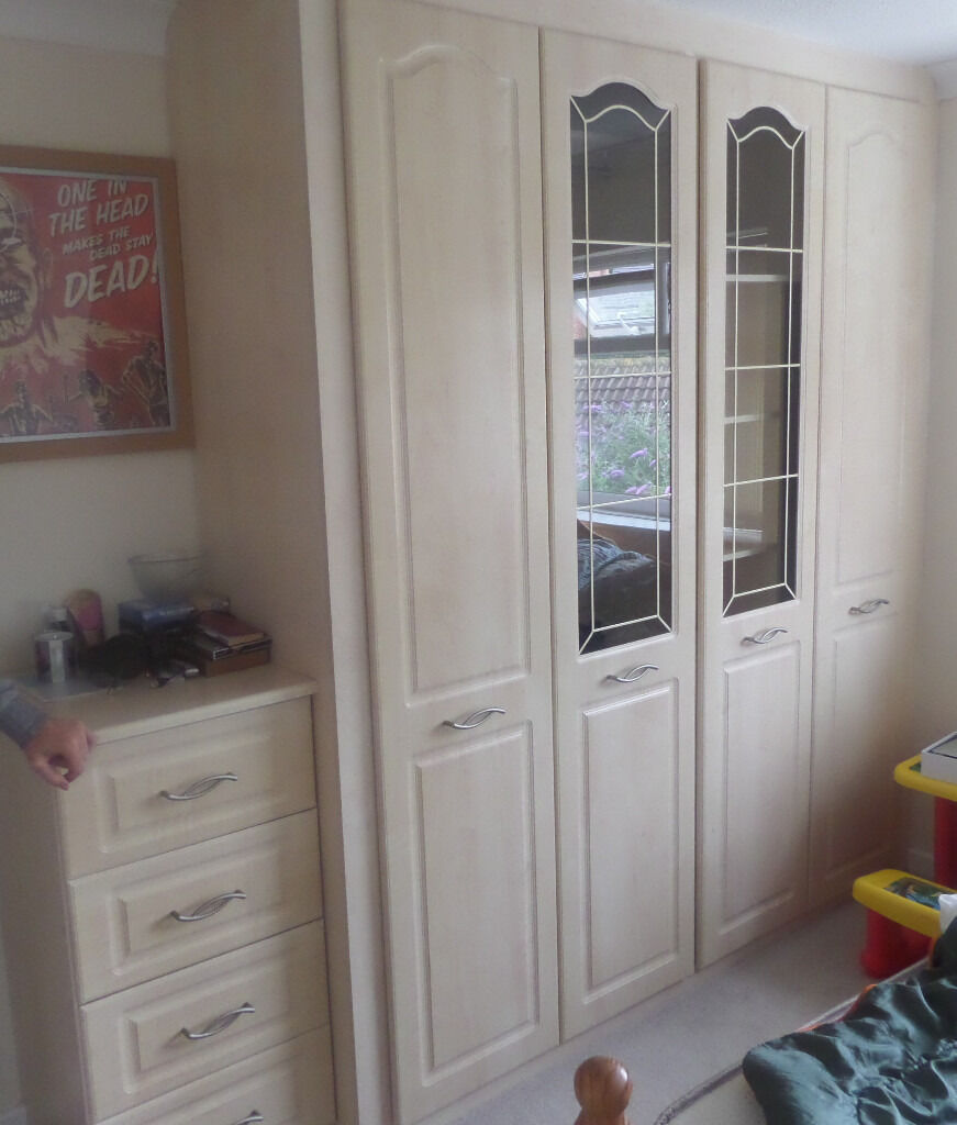Sharps Fitted Bedroom Furniture Sold Sharps Bedroom Fitted Wardrobes Tallboy X2 Bedside