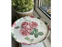 Emma Bridgewater Pink Roses Cake Stand and Glass Dome