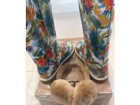 BRAND NEW CLASSIC TALL LIMITED EDITION colorful UGG BOOTS +UGG EARMUFFS ABSOLUTE BARGAIN