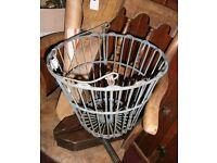 unusual vintage plastic coated basket
