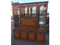 Large solid display cabinet