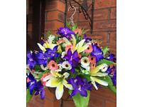 Handmade Artificial Flower Hanging Basket