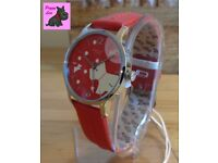 Radley RY2407 'Over The Moon' in 'Blazer Red' Leather Strap Watch – NEW RRP: £85