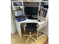 MICKE Corner workstation, (white100x142 cm)