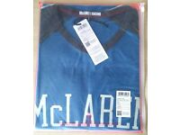 Official McLaren Est.1963 T-Shirt - Blue Grey Small + Gift Zip
