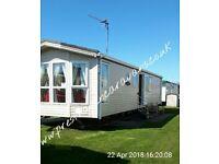 For hire 2 bedroom DG/CH 6 berth caravan Presthaven Beach Resort, North Wales