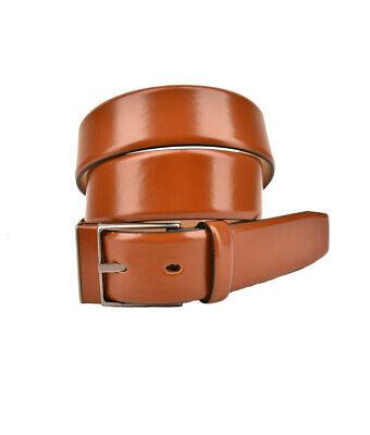 Giorgio Armani Mens Classic Belt Genuine Leather Brown Size 52