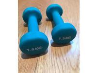 2x 1.5kg hand weights