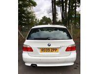 BMW 5 series touring white