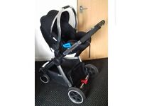 mothercare journey pushchair ( black and chrome)