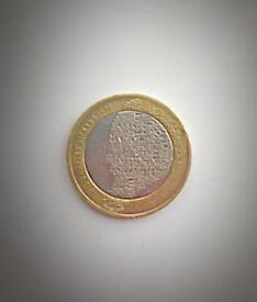 Rare £2 with Minting Errors