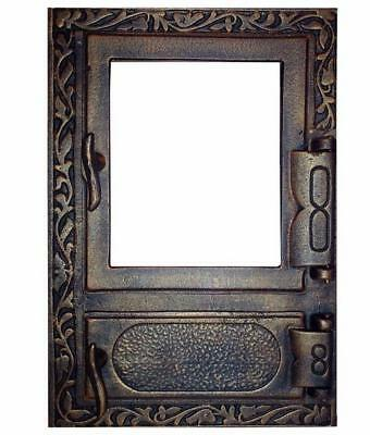 47 x 32,5 Cast Iron Fire Door Clay Bread Oven Pizza Stove Quality OLD COOPER (D)