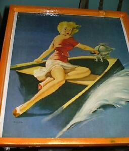 1950's Pin-up art pictures - 3 different , ready to display