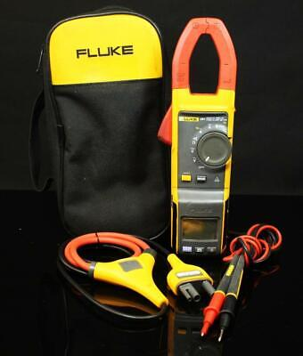 Fluke 381 Remote Display True Rms Acdc Clamp Meter W Iflex Leads Electrical