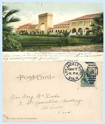 North Facade Stanford University California 1907 UDB Postcard